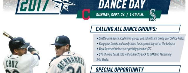 Join us for a day at the ballpark for Mariners Dance Day! Help us take over Safeco Field for the 2nd year in a row! Bring your friends and family […]